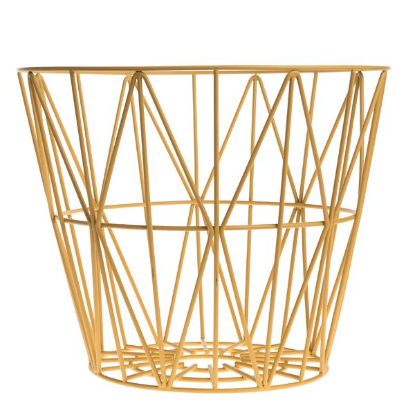 The multifunctional Wire basket by Ferm Living is made of iron wire with powder coating. You can store almost anything in this basket.