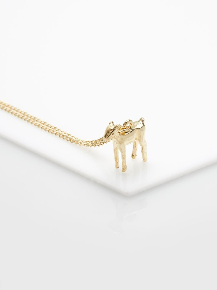 Necklace with cute animal pendant KL885-GLD  #mohito #jewelry #necklace