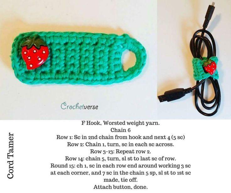 Crochet earbud holder ☂ᙓᖇᗴᔕᗩ ᖇᙓᔕ☂ᙓᘐᘎᓮ http://www.pinterest.com/teretegui