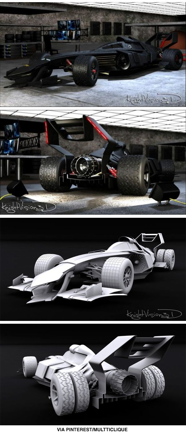 Now this is cool -- a concept Batmobile inspired by Formula 1 race cars.