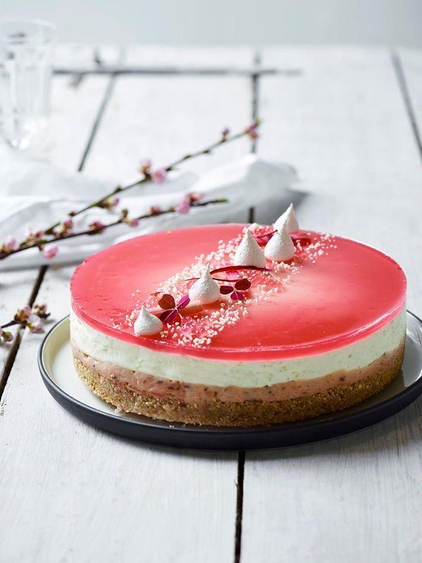 www.livmartine.dk 2016 04 cheesecake-med-rabarber-lime-og-estragon