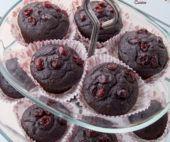 Briose de post cu ciocolata si merisoare / Vegan chocolate cranberry muffins