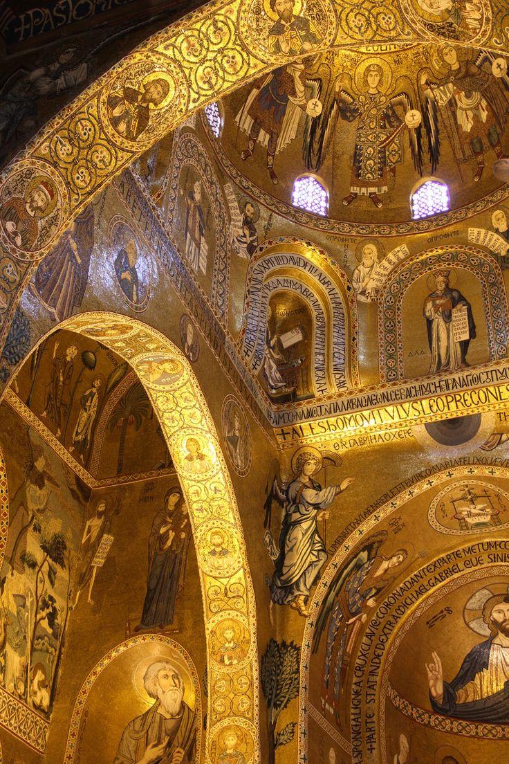 La splendida Cappella Palatino. Palazzo Reale Palatine Chapel Royal Palace, Palermo, Sicily #palermo #art #visitsicily