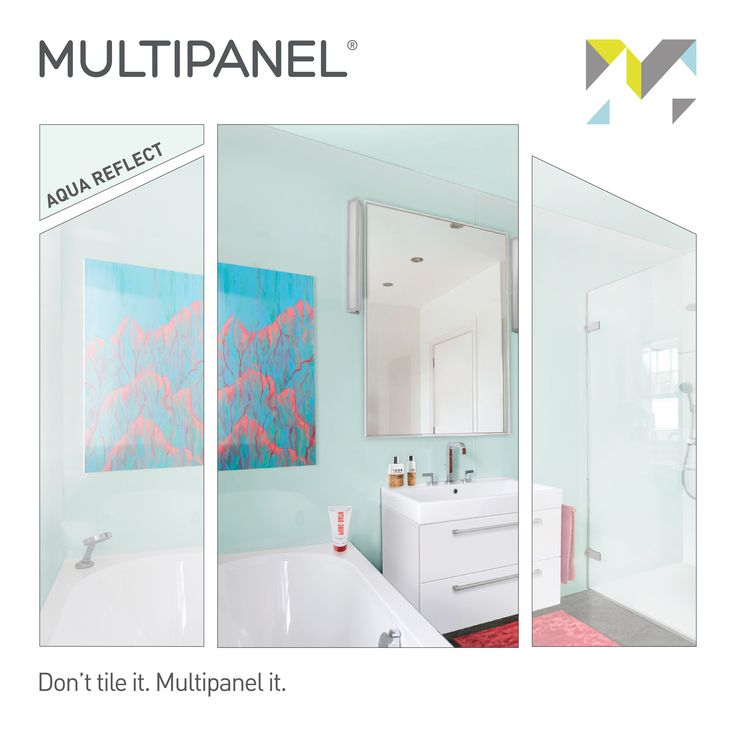 Panel of the Week! 🛀 This week our featured #paneloftheweek is Aqua (Reflect Range). Looking to spice up your décor? Stop by the home 🏠 of wonderful interiors -->  www.multipanel.co.uk