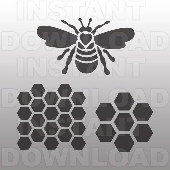 Queen Bee SVG File-Hon...