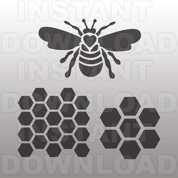 Queen Bee SVG File-nid d'abeille SVG-Bee svg file-coupe par sammo