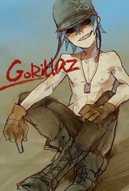 2D fanart - Gorillaz