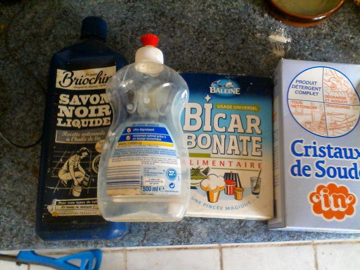 fait-maison produit liquide vaisselle fabriquer recette bicarbonate cristaux soude naturel savon noir