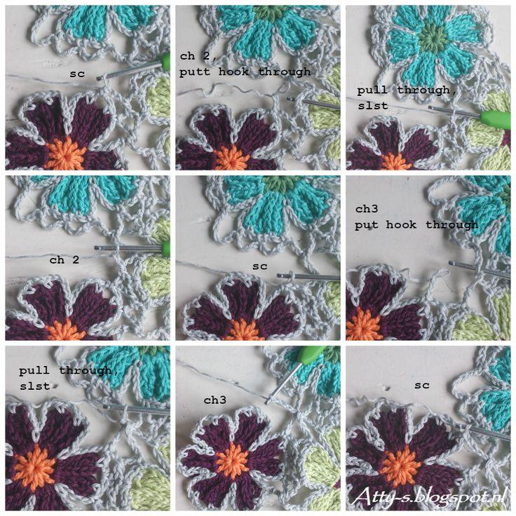 atty's: Catona Flower Shawl Pattern/Tutorial