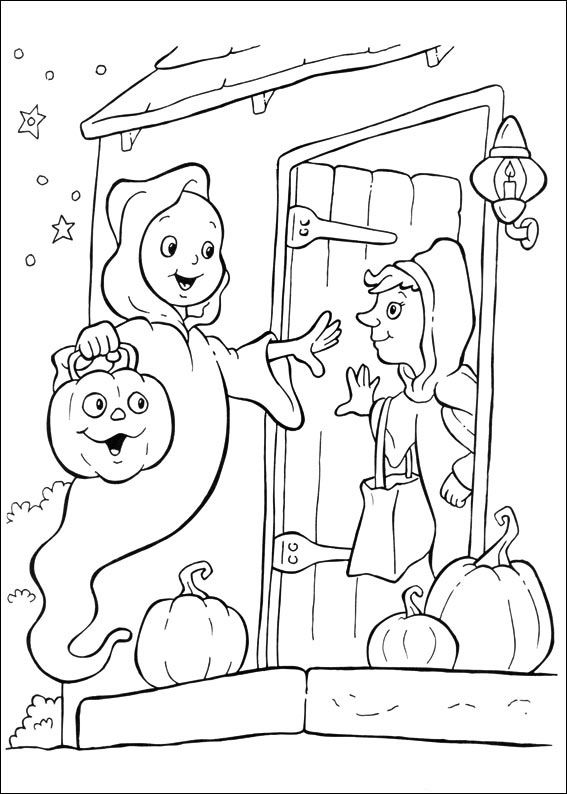 Halloween Coloring Pages For Kids Ghost Wich