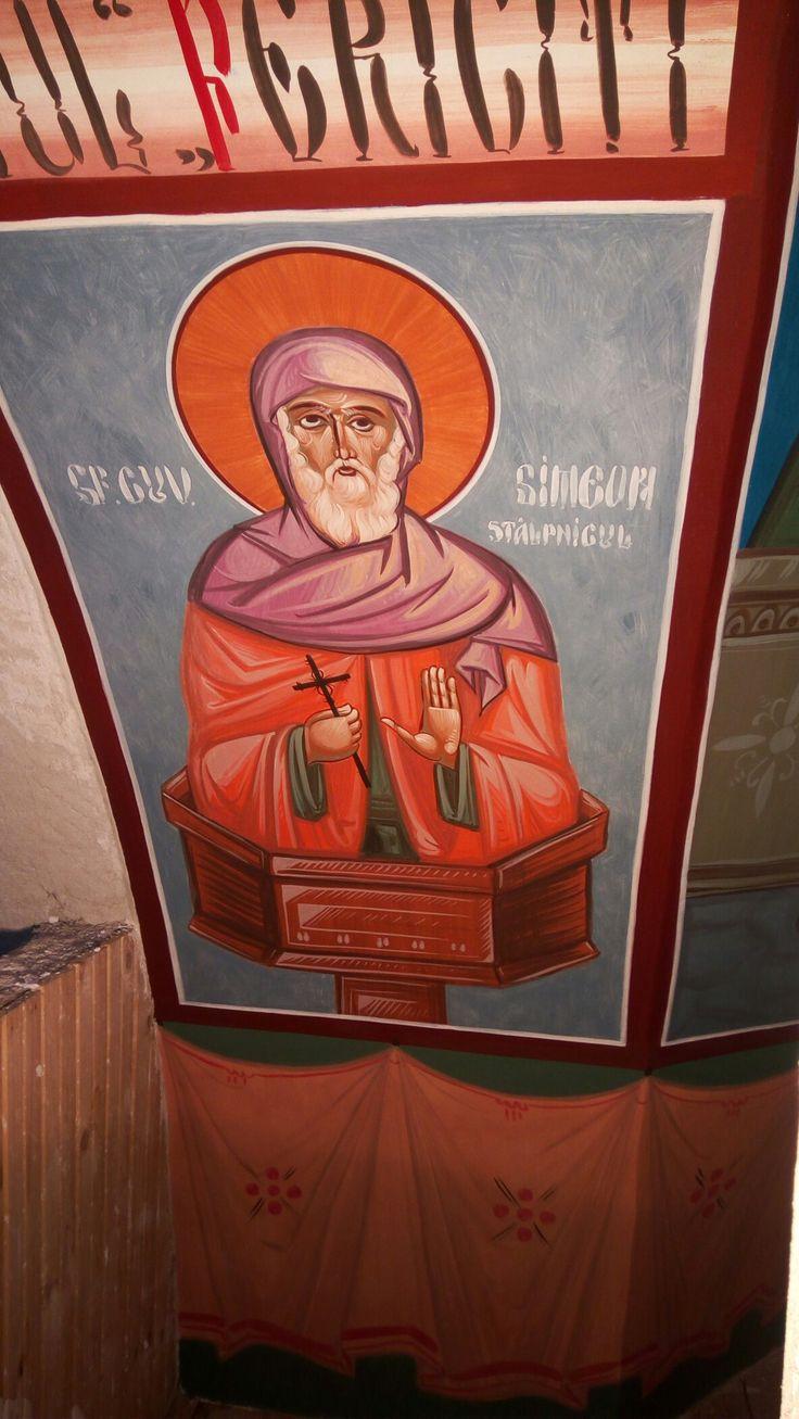 Sf.cuv Simeon stalpnicul Fresca 04.2017 Biserica Jandarmeriei Bihor