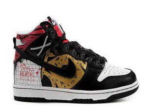 Classic Custom Nike Dunk High Top relancer Hellraiser chaussures