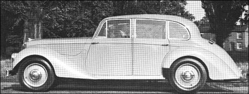 Armstrong Siddeley started post-war production in November 1945 with the 16 HP Lancaster Saloon and Hurricane Drophead Coupé. Both models have a 1991 -cc (65 x 100 mm) 70-bhp OHV power unit. Wheelbase is 9 ft 7 in, tyre size 5.50-17. Pre-production Lancaster and Hurricane cars had made their debut as early as May 1945-during the same week as VE Day (Victory in Europe).