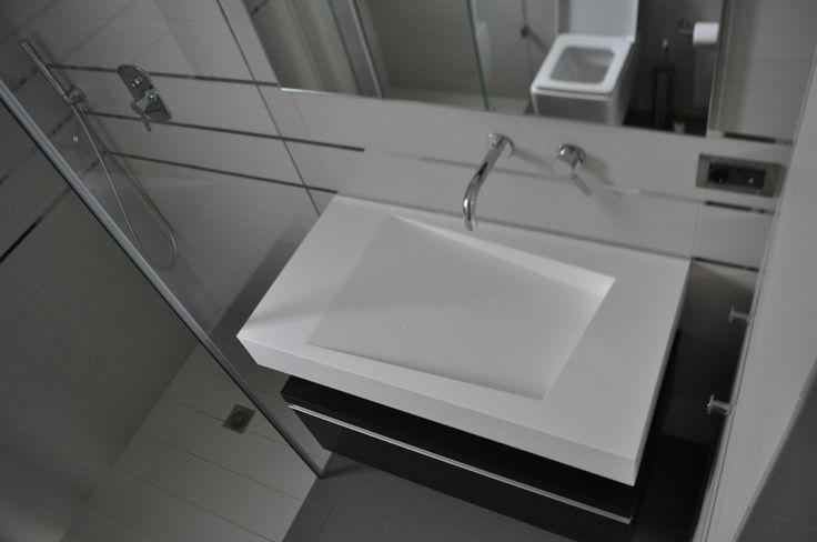 Custom made bathroom unit, corian sink, minimal design