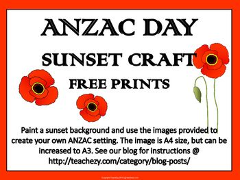 ANZAC Day Sunset or Sunrise Craft Activity