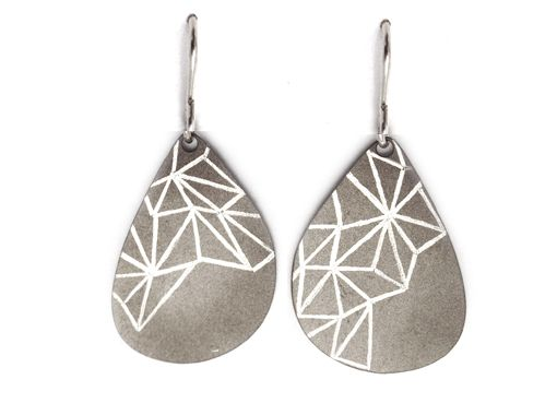 Meteoric titanium Organic Form Earrings