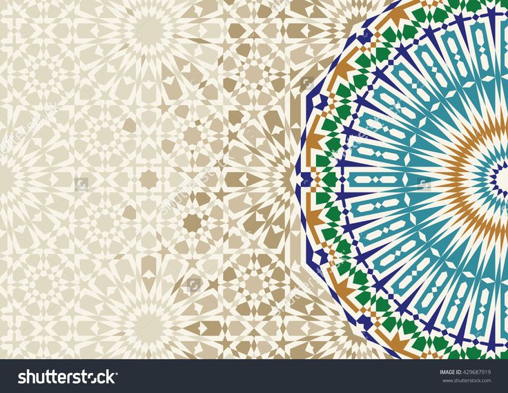 Disintegration Morocco Mosaic Abstract Template Arabic