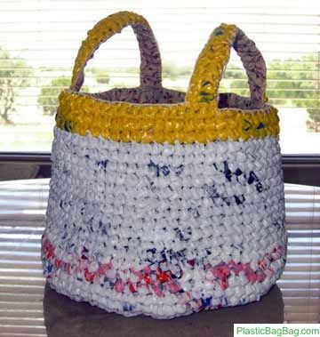 Crocheting Plastic Bag into Bags are where it's at.