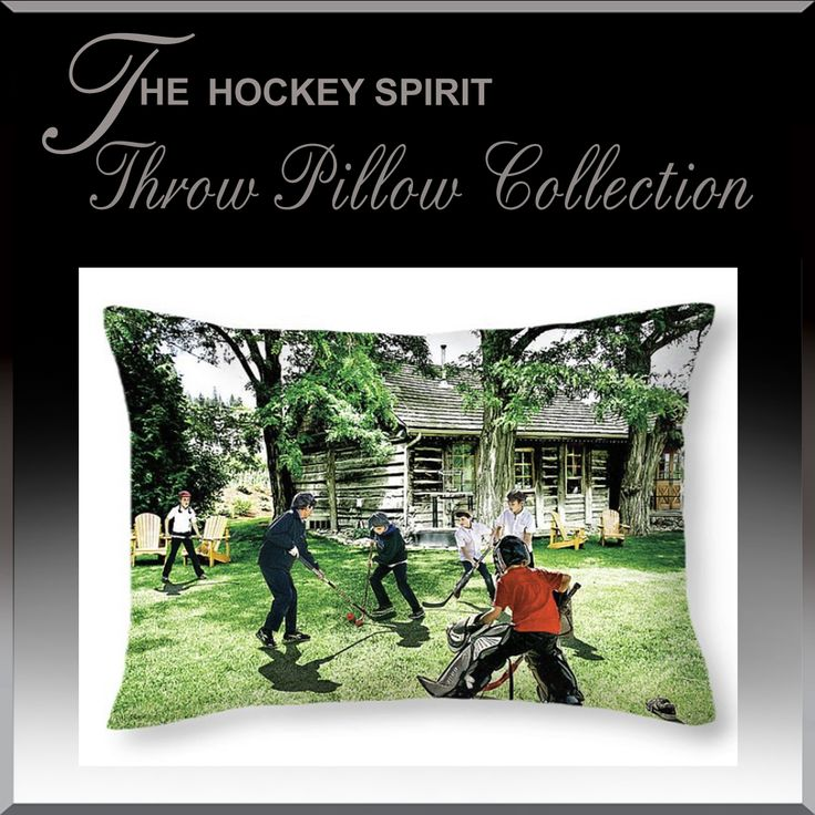 Throw cushions for hockey fans. Decorate your child's room, rec room with the game we love. #Hockey www.HockeyArt.org