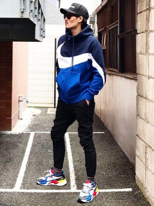 Moya モヤ Nikeのパーカーを使ったコーディネート パーカー
