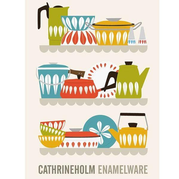Catherine Holm enamelware - quintessential 1950's Scandinavian