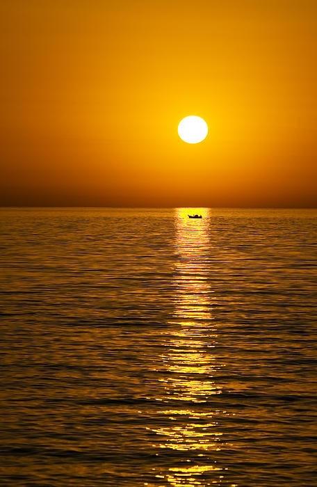 Golden sunset in Lesvos