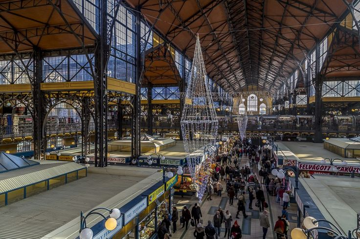 local gathering: the Great Market Hall of Budapest