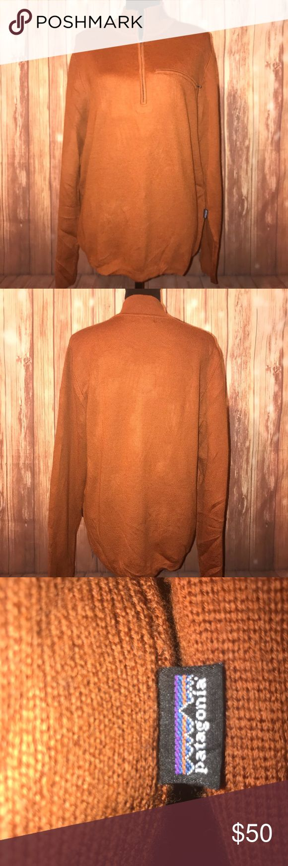 Patagonia Men's Copper Half ZIP Sweater Patagonia Men's Brown Copper Half Zip Sweater Size: Large is in great condition. Patagonia Sweaters Zip Up