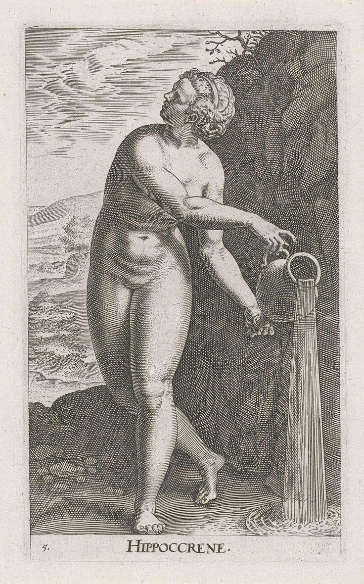 Waternimf Hippoccrene, Philips Galle, 1587