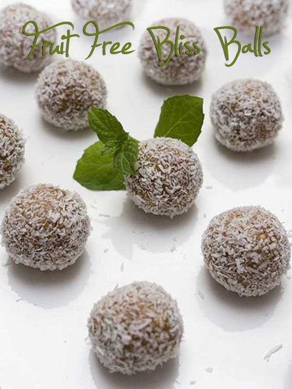 Many of you have asked me, how can you do fruitless bliss balls, since they are mostly with dates which are a caloric bomb. So here they are, no dried fruit in these, but still delicious!