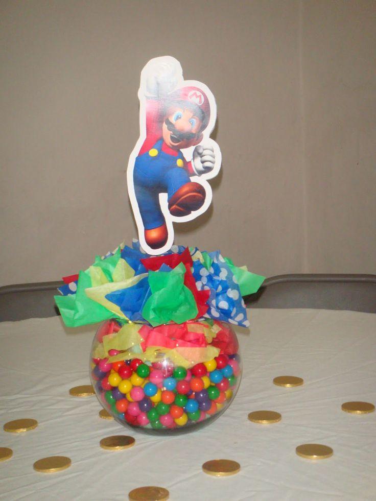 Mario centerpiece party ideas pinterest candy