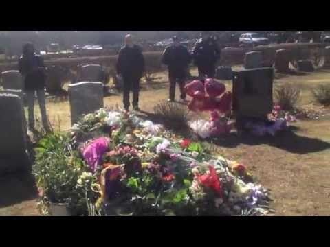Whitney Houston's Grave Site - YouTube