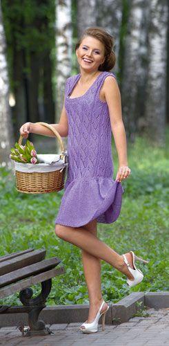 Скачайте схемы Сиреневый сарафан, вид рукоделия Вязание спицами - Валентина.ру