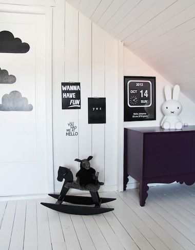 Did you know babies respond to black & white? This black & white nursery is darling!! http://thestir.cafemom.com/baby/171135/the_pefect_swedish_style_nursery?utm_medium=sm&utm_source=pinterest&utm_content=thestir&newsletter