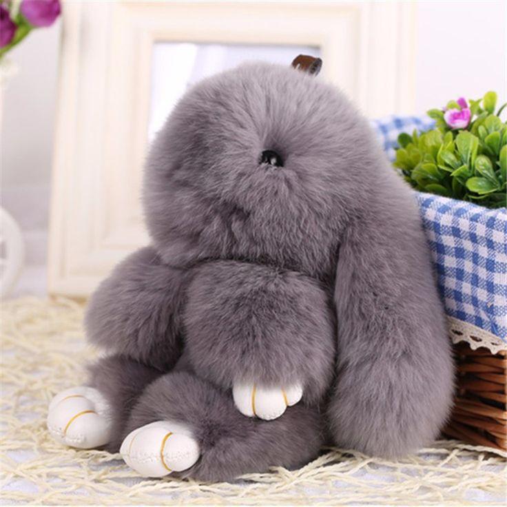 2016 New Rex Furs Králik plyšové hračky kľúčenka kľúčenka s príveskom Bag Car Charm Tag Cute Mini Rabbit Toy Doll v reálnom Fur monster-in plyšová & plyšové zvierat, od Hračky a koníčky na Aliexpress.com   Alibaba Group