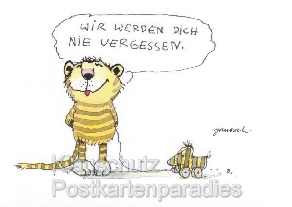Good Postkarten von Janosch Tiger und Ente ALP ucbr ue Wir werden dich nie vergessen