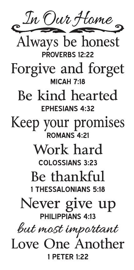 . Primitive STENCIL In Our Home Family Rules with Bible Verses by OaklandStencil, $21.95...