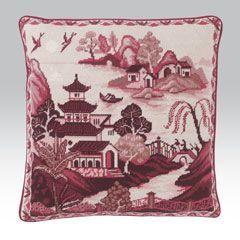 Alex Beattie Willow Pattern: Pink - Ehrman Tapestry