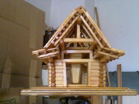 Block-Vogelhäuschen mit Futtersilo Bauanleitung zum selber bauen