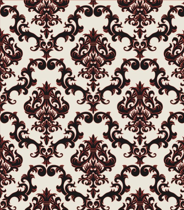 baroque style flocked wallpaper patterns pinterest
