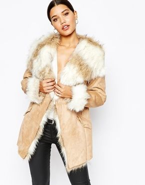 air max online shop china Lipsy Coat With Faux Fur Trim And Lining