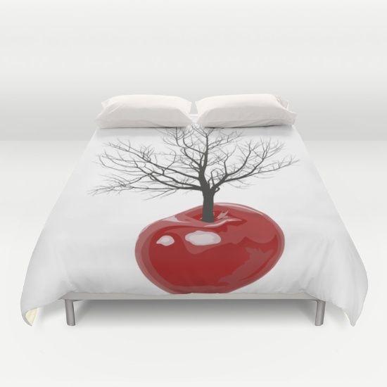 Cherry tree of cherries Duvet Cover