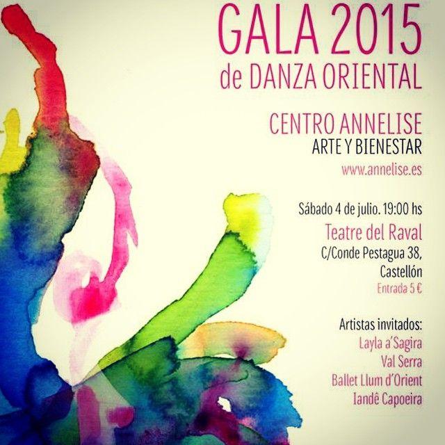 Zoom del cartel ganador del concurso para el cartel de la Gala 2015 de Danza Oriental para el Centro Annelise de Castellón