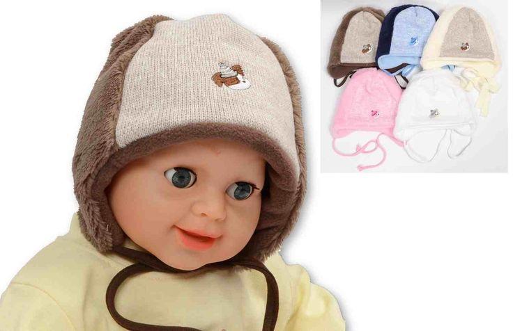 Dětská zimní čepice pro malé děti. #děti #móda #čepice #zima #zimníoblečení
