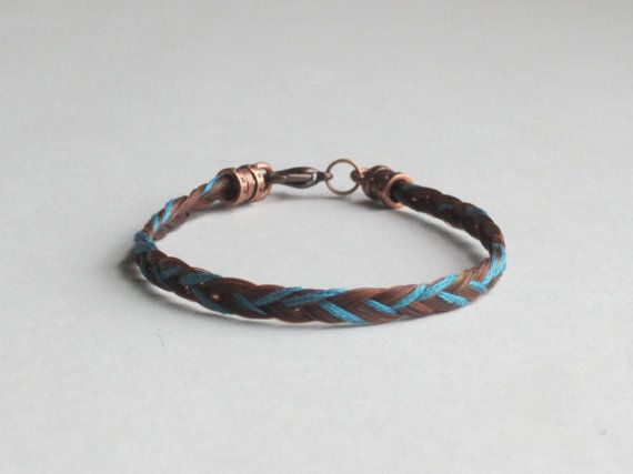 117 best horse diy images on pinterest horse equestrian and horse hair bracelet with blue thread solutioingenieria Image collections