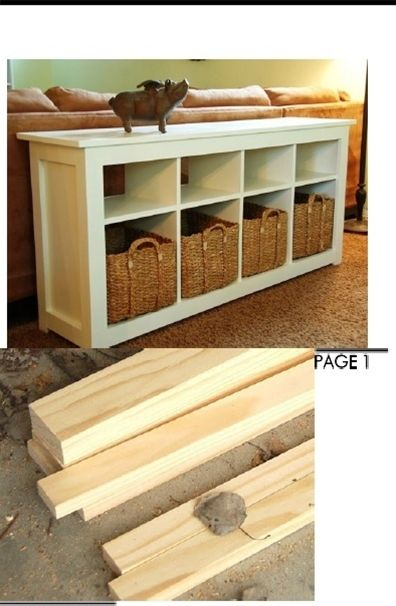 Behind the couch storage table. Step by step instructions on how to build this.