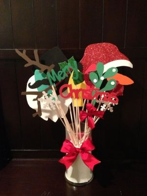 Christmas photo booth props. by lavonne
