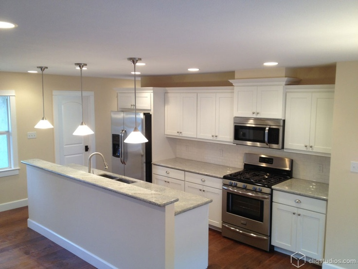 Contemporary Kitchen With White Cabinets 240 best white kitchen cabinets images on pinterest | white