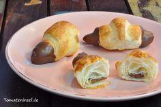 Mini-Schoko-Croissants mit Nougat-Füllung
