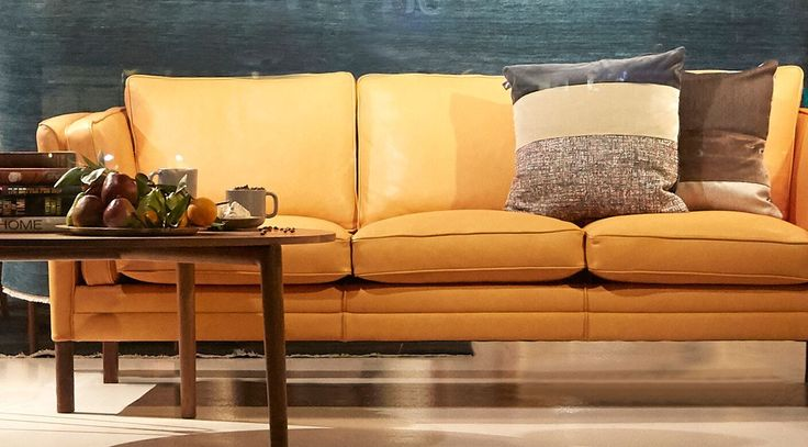 Napier Street, Fitzroy Showroom. The Klassik Sofa in the new luxurious leather range. Available now in store.